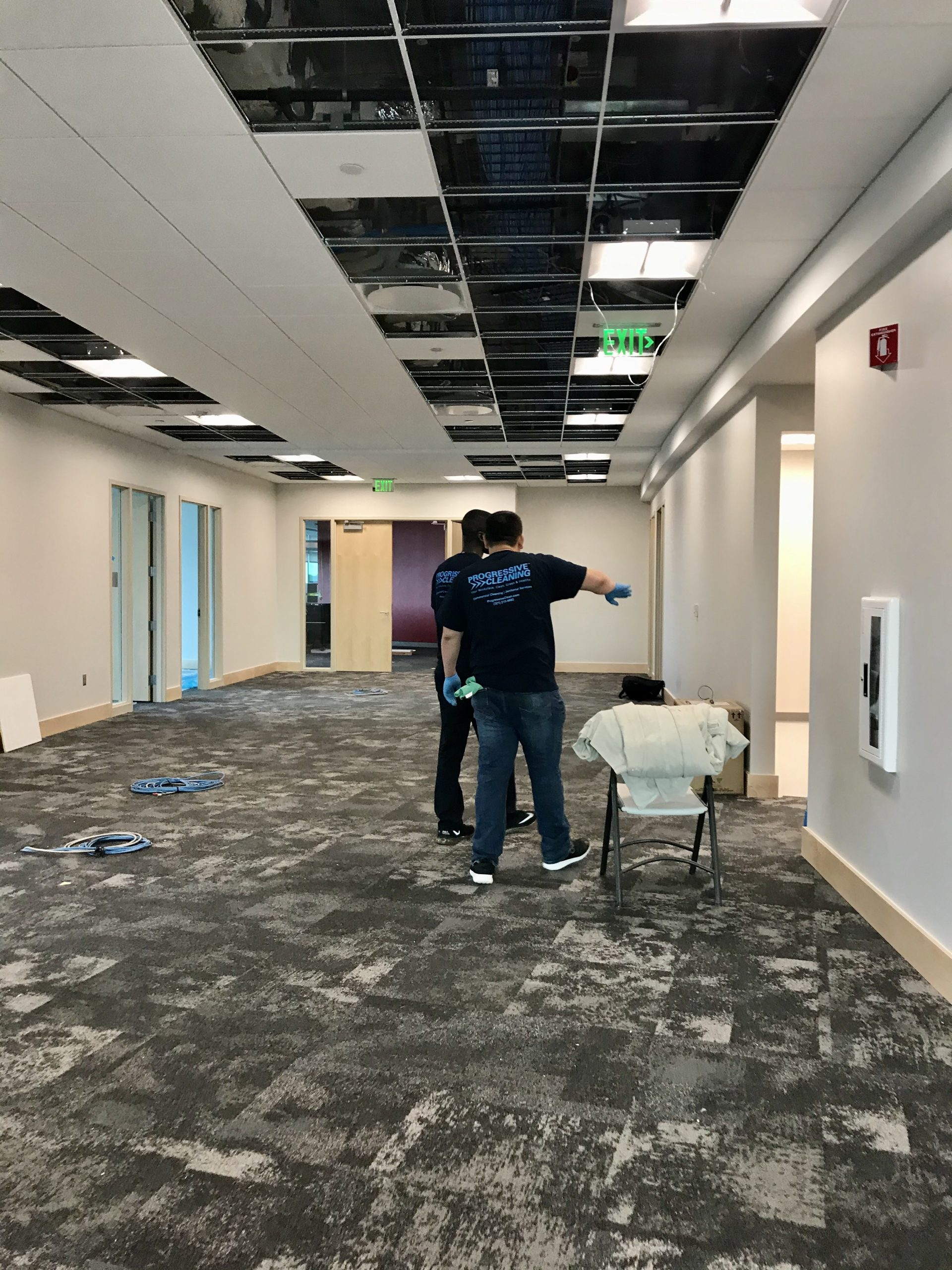 progressive cleaning team doing post construction cleaning