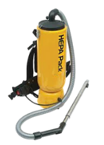 HEPA filter backpack vacuum